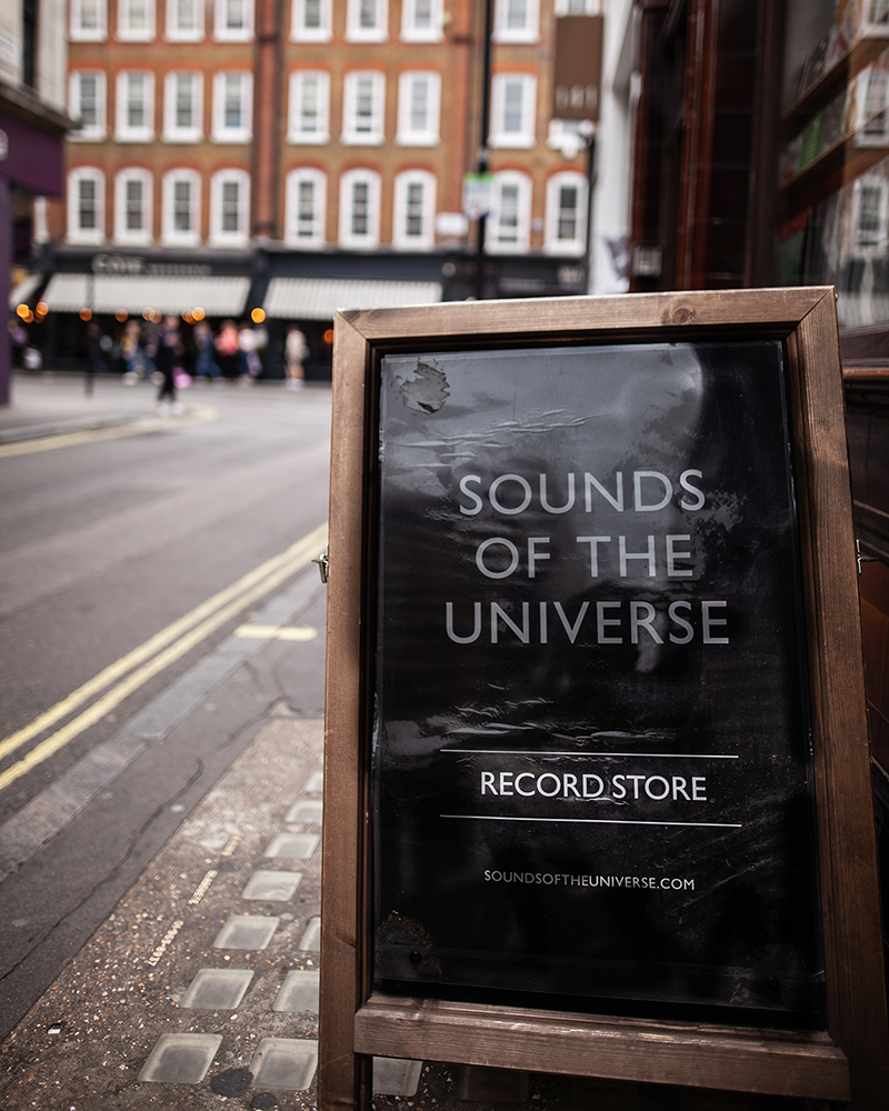 Sounds Of The Universe Record Shop in Soho, London