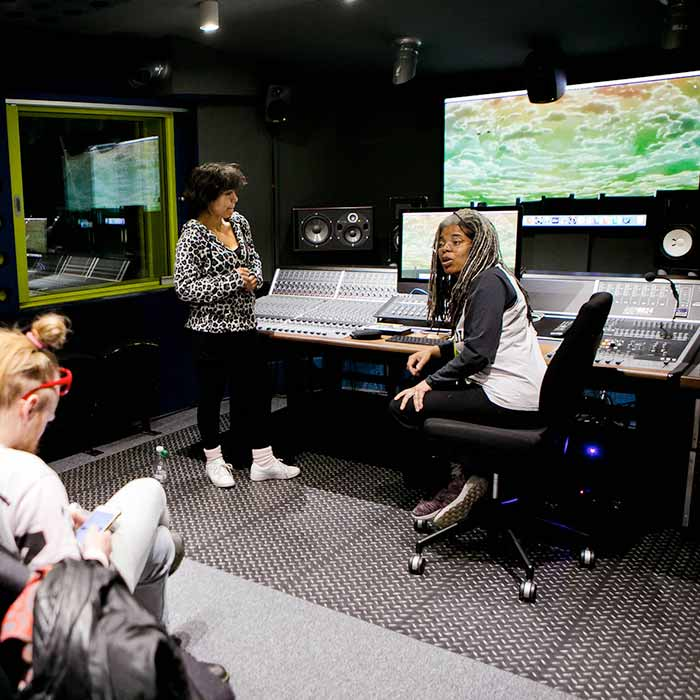 Music students in Studio | ICMP London