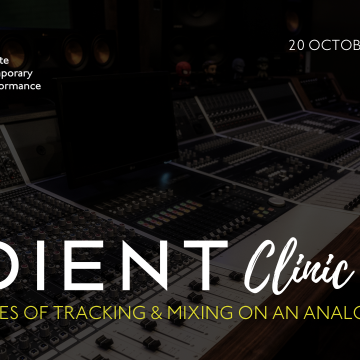Audient Clinic | Events | ICMP London