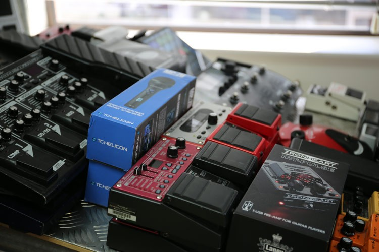 Plenty of guitar pedals for you to choose from