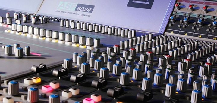 Audient mixing desk used by Alchemea @ ICMP students