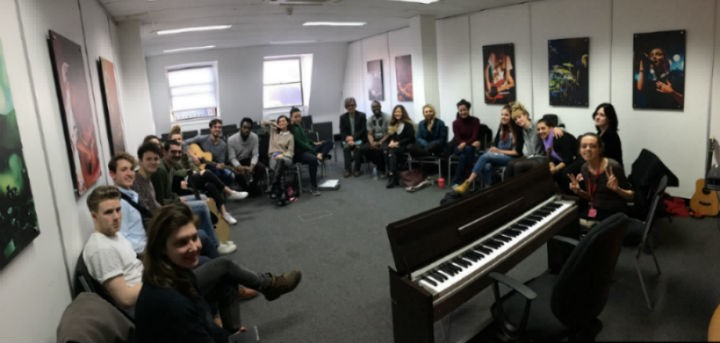 ICMP and Atla students in their masterclass