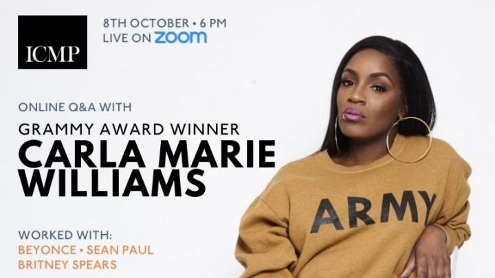 Online Q&A with Carla Marie Williams   Events   ICMP London