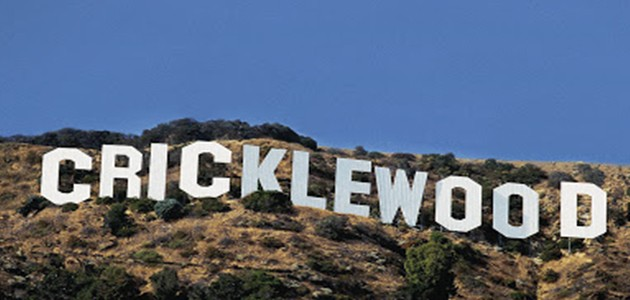 Cricklewood Sign on a hill