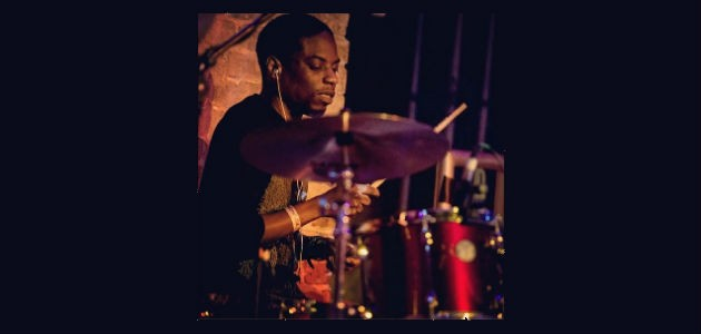 Jason Condison playing drums