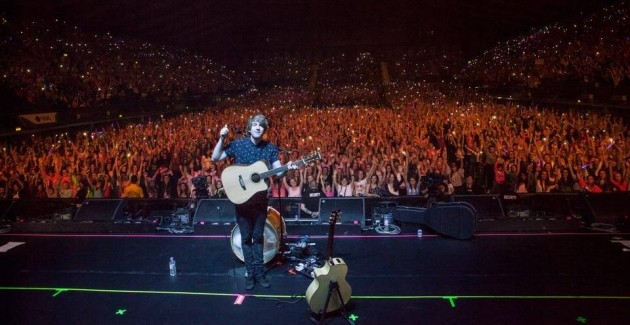 Mike Dignam onstage at Wembley