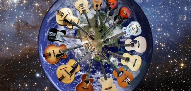 World with Guitars on it