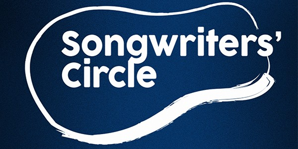 Songwriters' Circle Logo with guitar shape around it