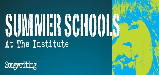 Summer Schools Poster with singer writing