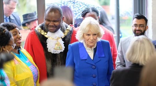 Camilla Duchess of Cornwall visits Kilburn