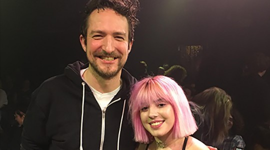 Frank Turner meets ICMP scholarship winner at Songwriters' Circle